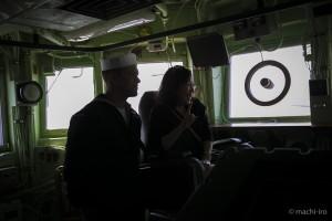 掃海艦パトリオットシップツアーキャプテンシート写真