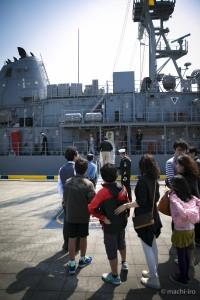 掃海艦パトリオットシップツアー乗船写真