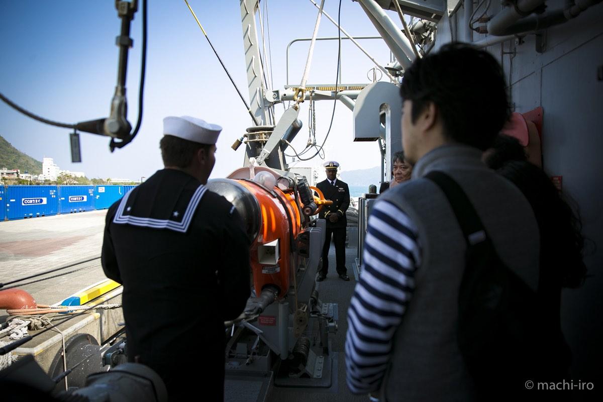 掃海艦パトリオットシップツアー遠隔操作無人探査機写真