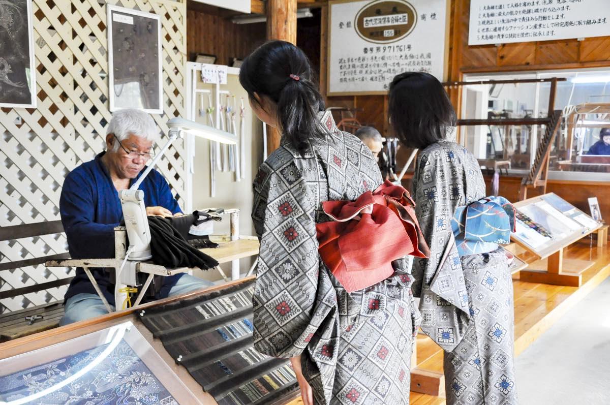 大島紬村 製造工程見学写真