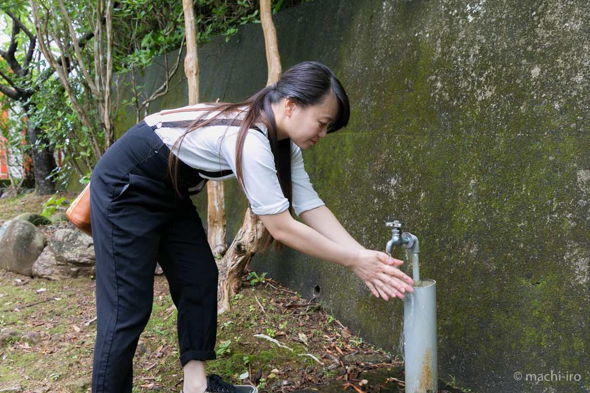 厳島神社(須古)手水写真