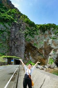 徳浜の断崖 写真