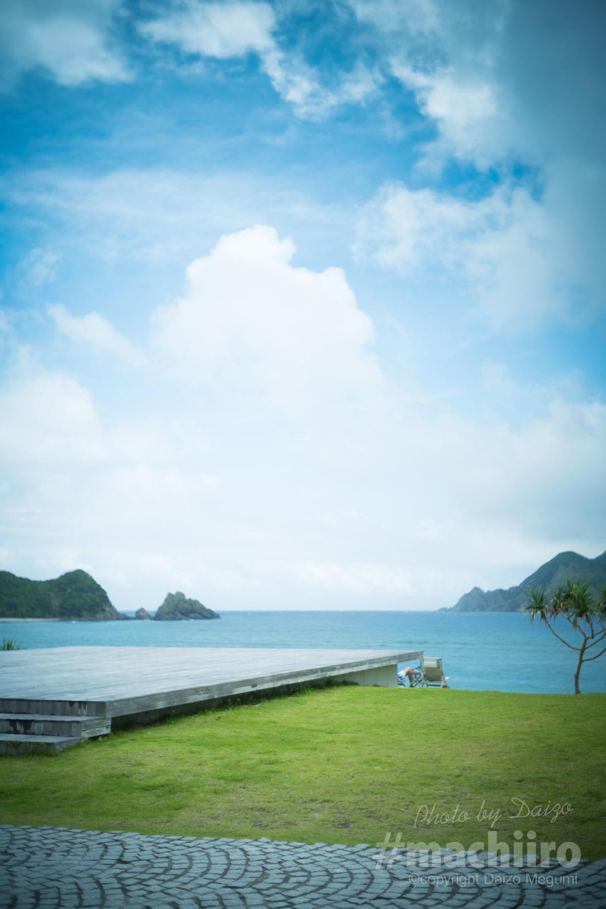 マチイロ撮影 ホテルザシーンから大島海峡を望む
