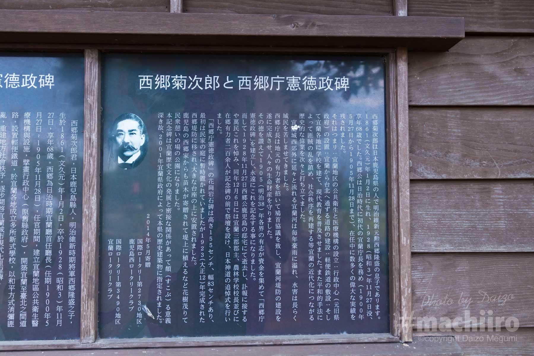 machiiro 撮影 説明看板の写真