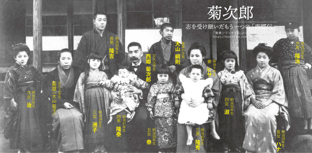 西郷 菊次郎・菊草兄妹とその家族 「西郷隆盛と菊次郎展」記念誌より 提供:龍郷町教育委員会