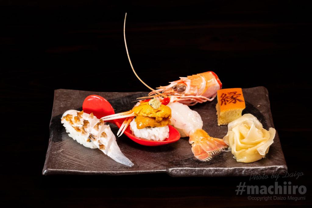 有楽 縁 奄美大島近海の食材を握った寿司写真