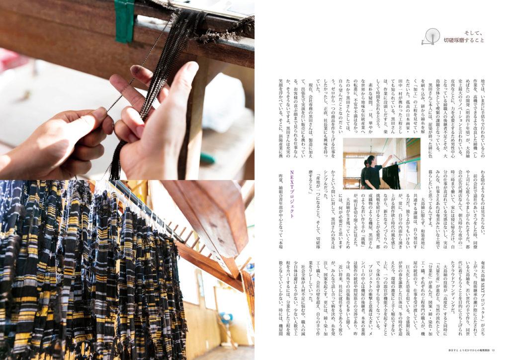 奄美探訪 大島紬の明日 ページサンプル写真