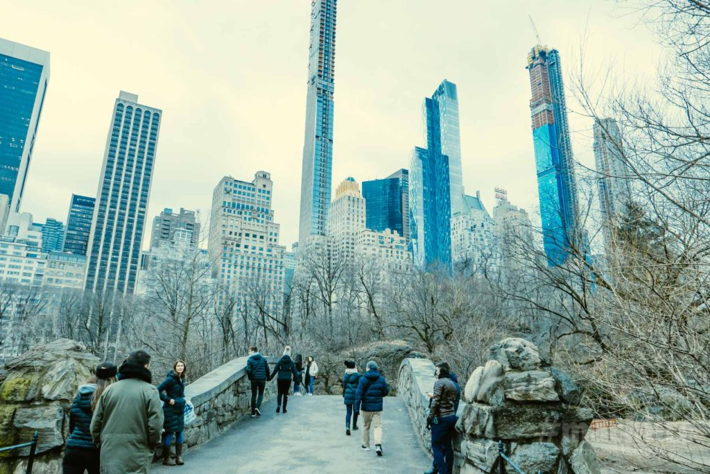 セントラル・パークと高層ビル群