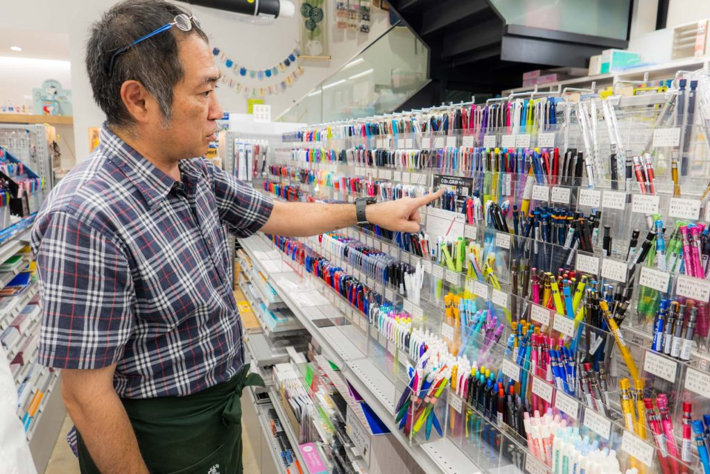 なぜまち商店街 東京堂 ボールペン写真