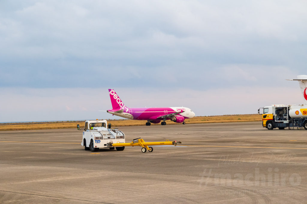 写真 Peach 大阪(関西)-奄美線が就航