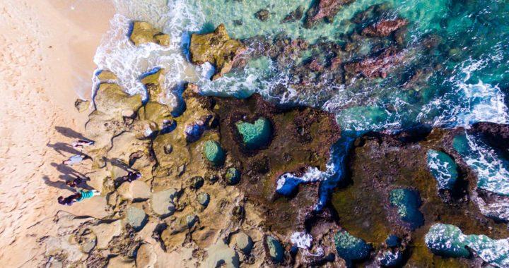 奄美大島の大人気観光地、ハートロックを空撮