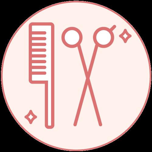 美容室特集 感染症対策ピクトグラム 器具類の消毒